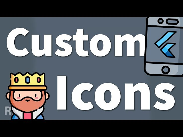 Flutter Custom Icons – Automatic & Manual Way (Icon Font or SVG)