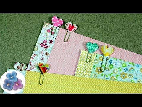 HTM Como Hacer Clips de Corazones *How to Heart Clip* Scrapbook Crafts Papercrafts Pintura Facil
