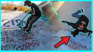 Flair EVERYTHING Scooter Challenge at DIY Skatepark!