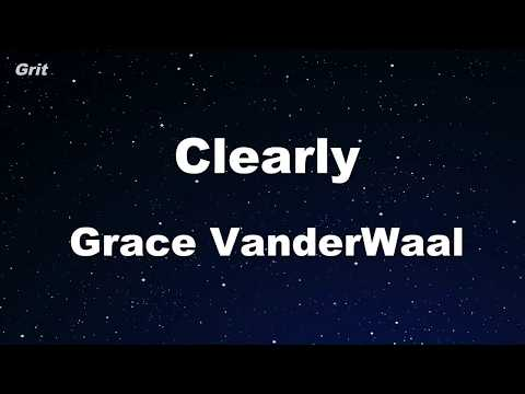 Clearly - Grace VanderWaal Karaoke 【No Guide Melody】 Instrumental