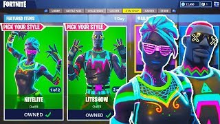 "NEW ""LITESHOW + NITELITE"" SKINS GAMEPLAY in Fortnite! - NEW Fortnite UPDATE! Fortnite Battle Royale"