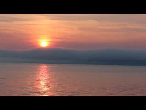 Sun setting view from Maine ocean front lot - Land Liquidation Sale