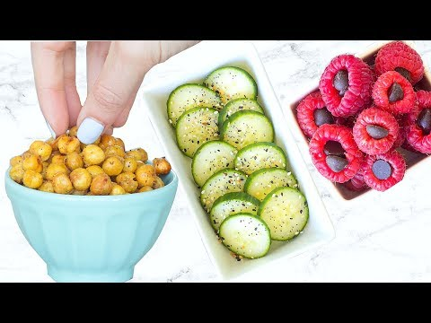 10 HEALTHY SNACKS EVERYONE NEEDS TO KNOW! EASY AND QUICK!