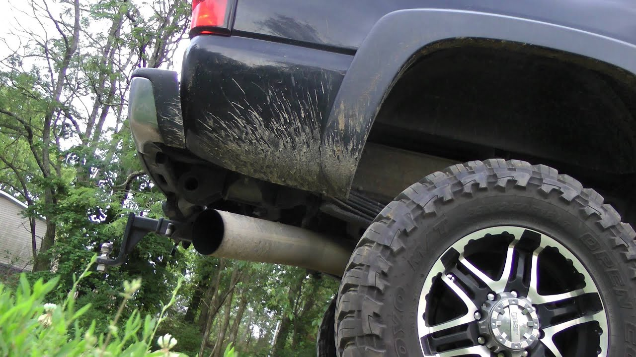 07 Chevy 2500hd Lbz 5 Inch Mbrp Muffler Vs Straight Pipe