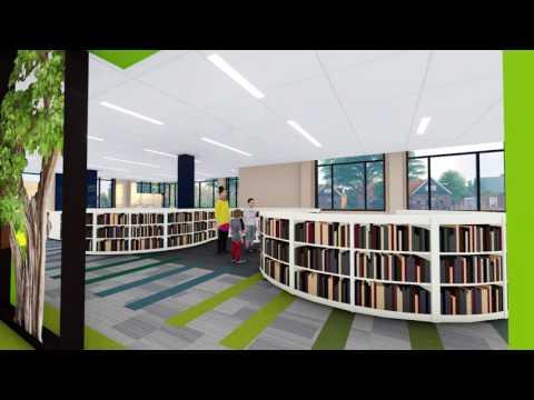 West Seneca Community Center & Library, walk through rendering