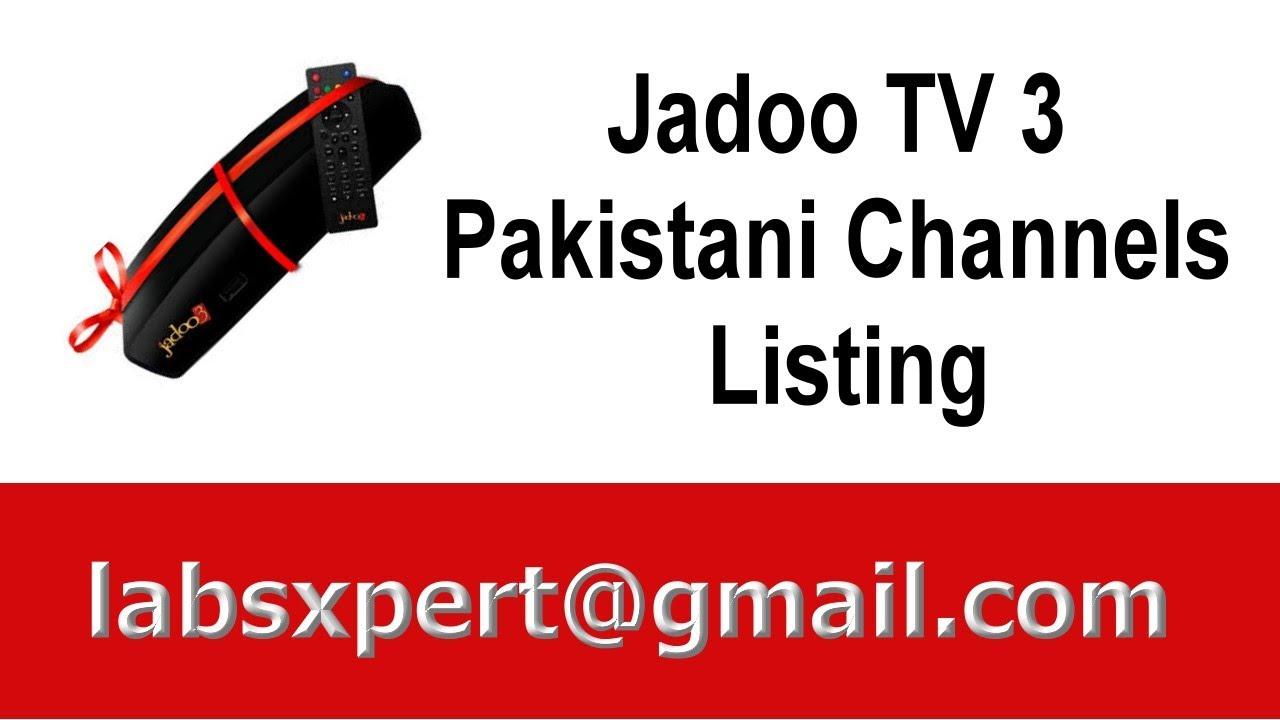 Jadoo TV 3 Pakistani Channels Listing