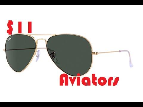 d4e9e64957 Aliexpress Unboxing   11 ray-Ban dark tinted gold rim aviator sunglasses  58mm