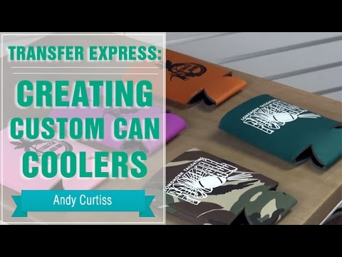 Heat Press Custom Can Coolers With Transfers