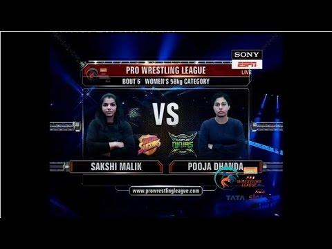 PWL 2017: Sakshi Malik Vs Pooja Dhanda 6th Jan | Colors Delhi Sultans Vs Jaipur Ninjas