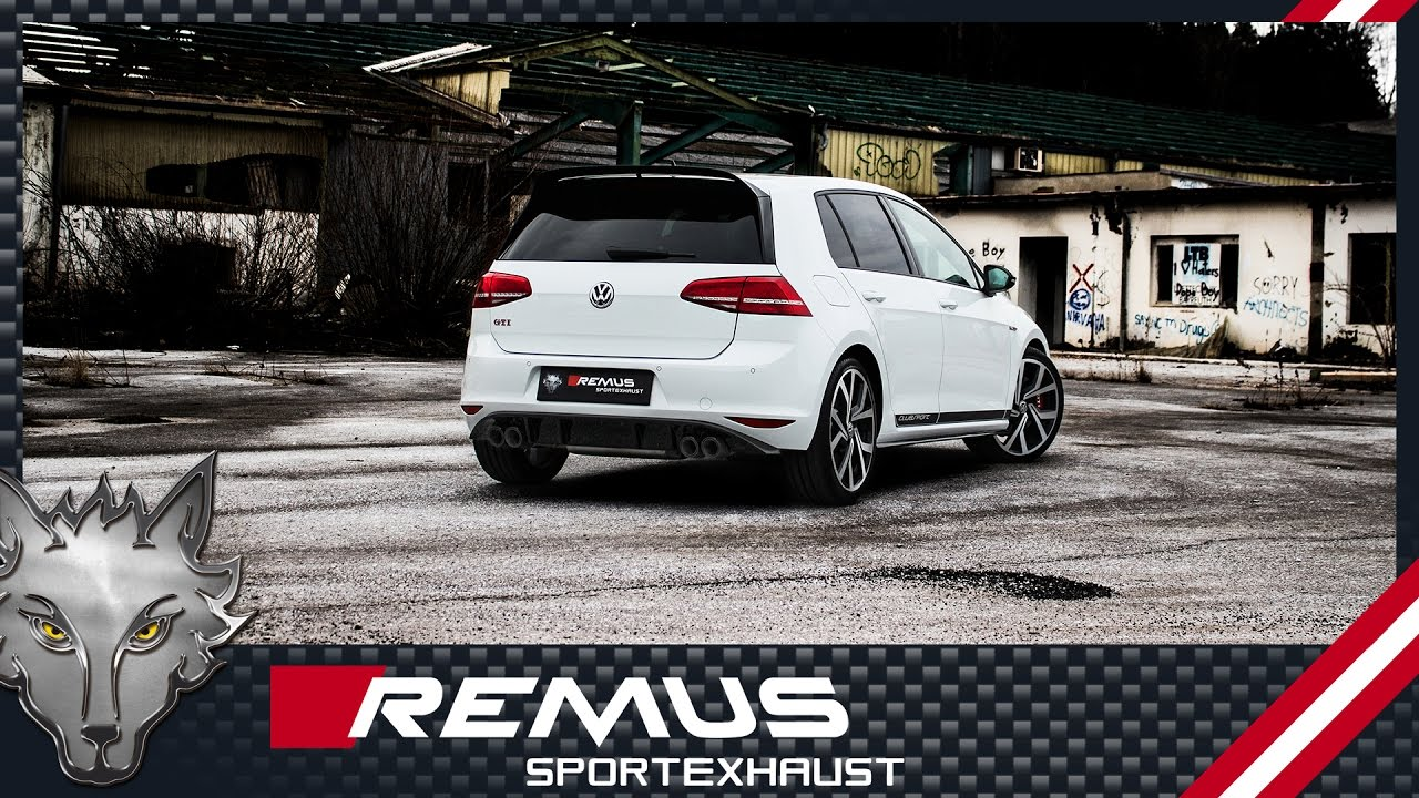 vw golf vii gti clubsport with remus turbo back system. Black Bedroom Furniture Sets. Home Design Ideas