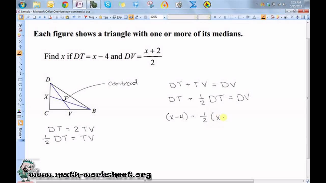 Geometry - Properties of triangles - Medians - Medium - YouTube
