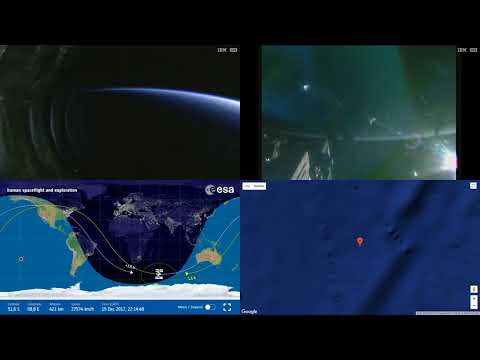 Orbital Sunrise And Pass Over Australia - Space Station Earth View LIVE NASA/ESA ISS Cameras - 87