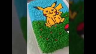 Decoração de Bolo Desenhado a Mão – Pokemon