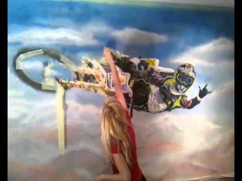 painting mural motocross whip YouTube