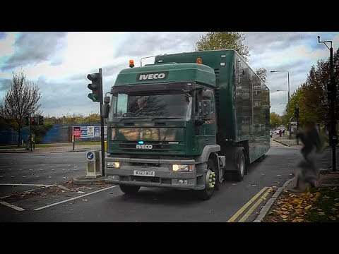 London Met Police - Unmarked Mobile Command Centre lorry convoy