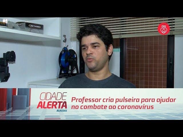 Professor cria pulseira para ajudar no combate ao coronavírus