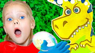 Soap Bubble | Vitalina life and dad pretend play | Funny story for kids