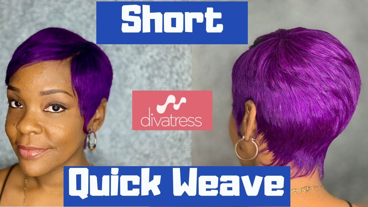 milkyway 27 piece from divatress | short quick weave | milky way hair review