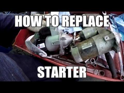 Diesel Engine Starter Diagram 2008 International 4300 Radio Wiring How To Replace 2003 Mitsubishi Outlander Youtube