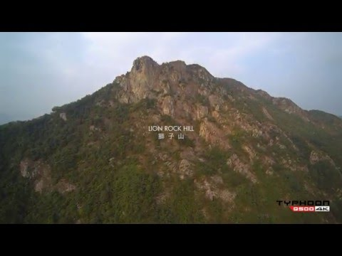 Yuneec Q5004K aerial filming of Lion Rock