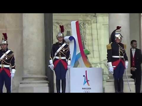 Réception au palais de l'Elysée le 15 septembre 2017 après la victoire de Paris Jeux Olympiques 2024