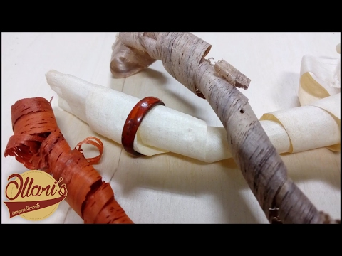 A Wooden Ring from shavings