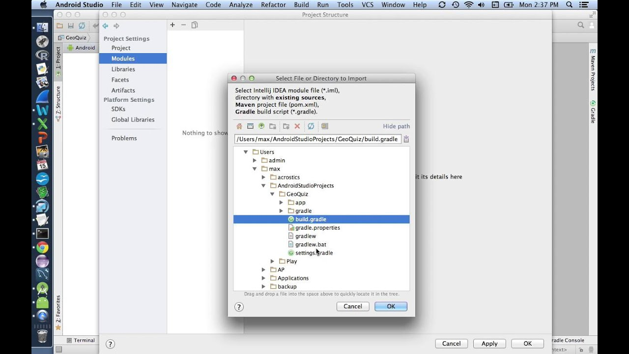 Cloning an Android Studio Project from GitHub