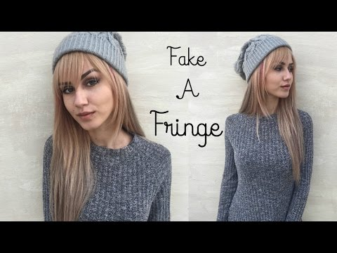 Fake a Fringe In 3 Minutes| NO CUTTING | Stella