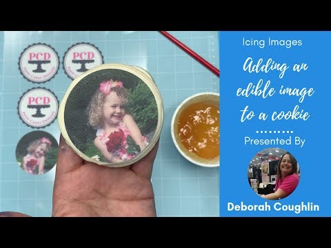 How To Attach Edible Pictures To Cookies