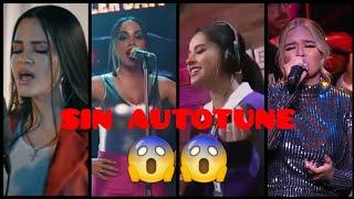 Natti Natasha, Karol G, Anitta & Becky G Cantando Sin AUTOTUNE
