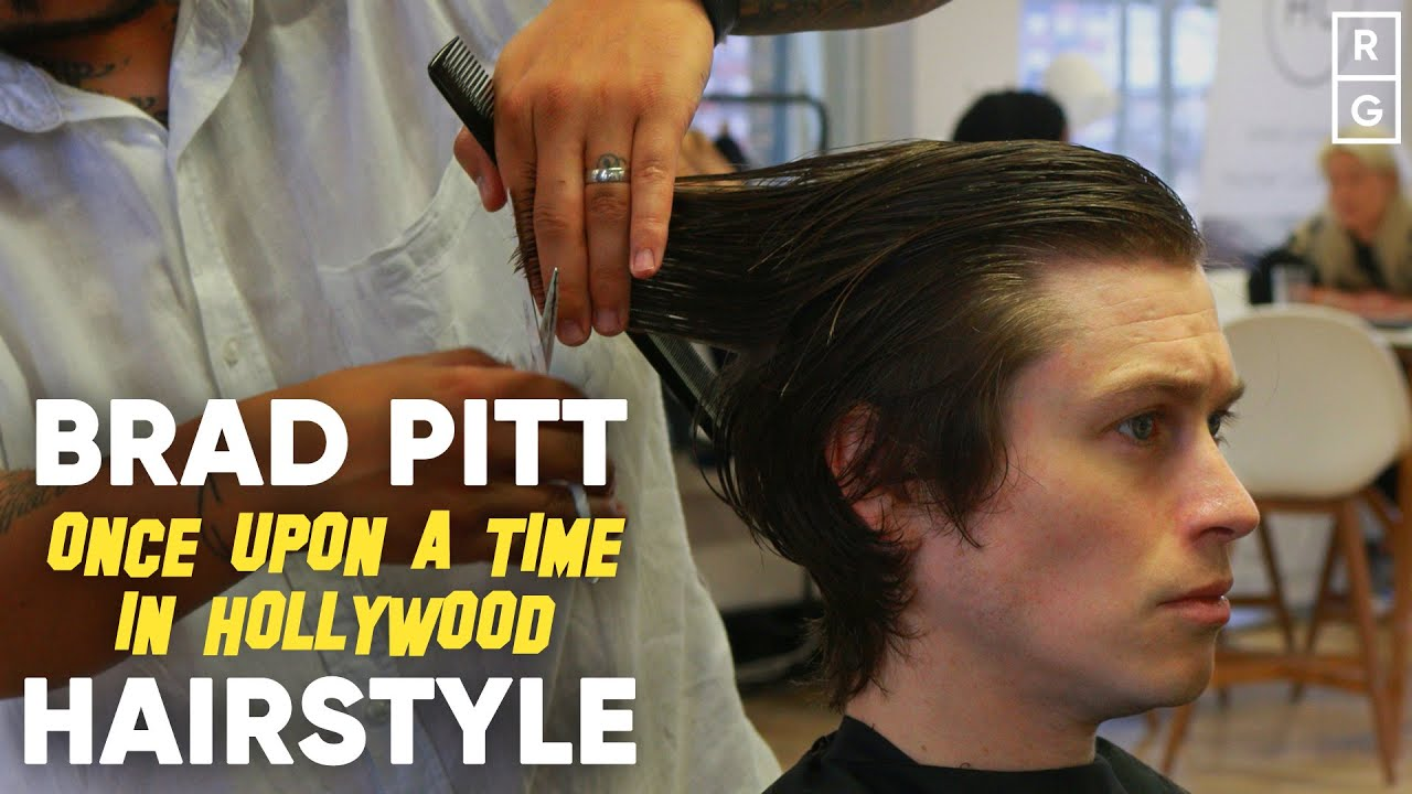 Brad Pitt Once Upon A Time In Hollywood Inspired 60s Hairstyle Youtube