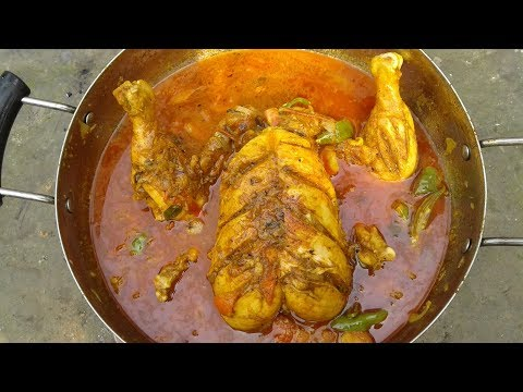 Full Chicken Curry Recipe | Chicken Gravy Recipes | Cooking And Eating By Street Village Food
