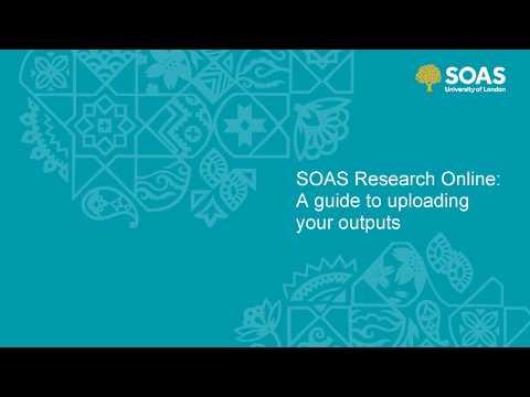 SOAS Research Online Deposit Guide