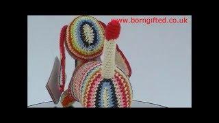 Crochet Dachshund (stripey) By Anne-claire Petit