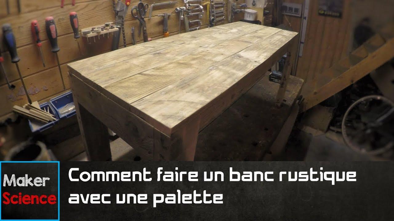 #DIY  Comment faire un banc rustique avec une palette