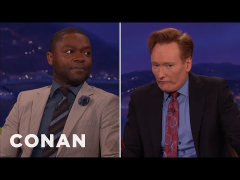David Oyelowo & Conan Compare Glares  - CONAN on TBS