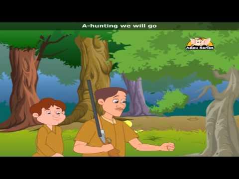 A hunting we will go with Lyrics - Nursery Rhyme