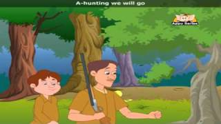 A hunting we will go with Lyrics - Nursery Rhyme‬