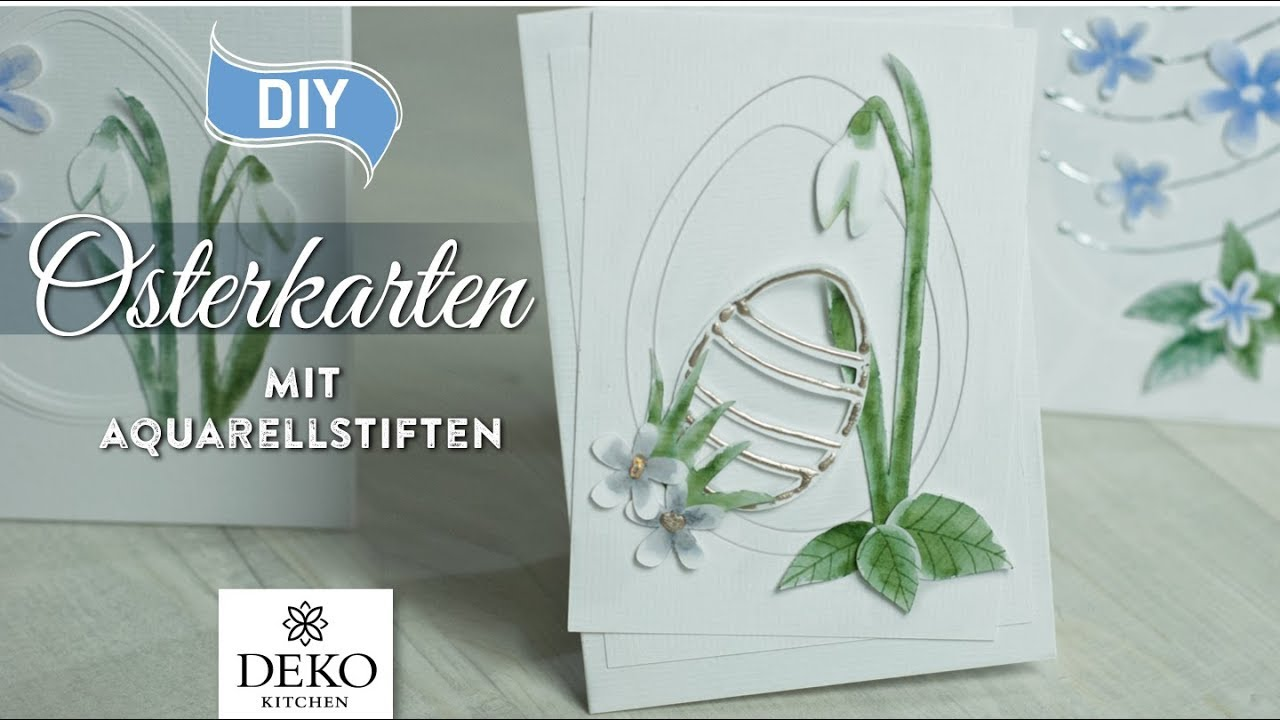 Diy h bsche osterkarten mit aquarellstiften selbermachen how to deko kitchen youtube - Youtube deko kitchen ...