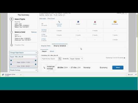 Concur Travel Booking Demo