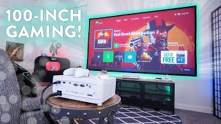 My Ultimate 100-Inch Gaming Setup Under $1,000!