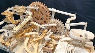 Check out these amazing useless yet fun wood marble machines videos...