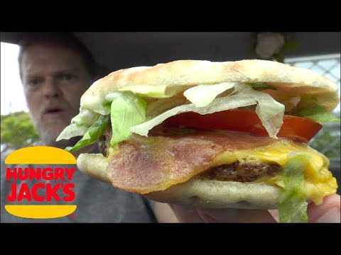 Hungry Jacks Low Carb Bacon Deluxe Burger Review - Greg's Kitchen