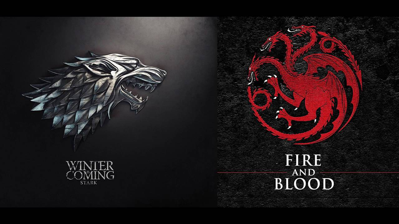 Game Of Thrones   Soundtrack House Targaryen U0026 Stark COMBINED   A Song Of  Ice And Fire   HD