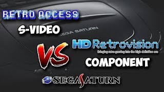 Sega Saturn HDMI Scaler S-Video (Retro Access) & Component (HD Retrovision) Comparison!