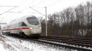 Züge im Winter Bad Oldesloe 01/02.2012