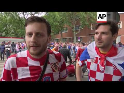 Fans react after Croatia's victory over Turkey