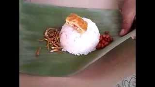 Cara Membungkus Nasi Lemak Yang Paling Mudah