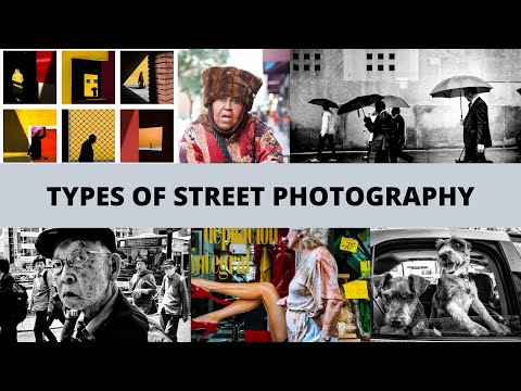 What are all the TYPES of Street Photography you can do?