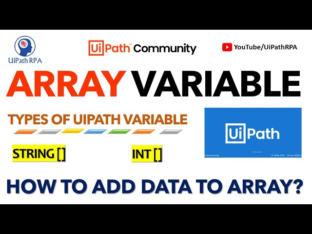 UiPath Array Variable | String []Variable | Types of UiPath Variable | UiPathRPA